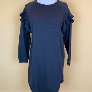She+Sky sweatshirt dress ruffled boutique NEW